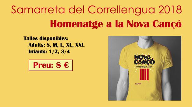 Ja està disponible la samarreta del Correllengua 2018!